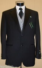 NEW RALPH LAUREN 100% Wool Black Tuxedo FREE Vest/Bow 42 Regular 42R Tux Suit