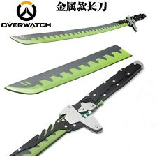 Overwatch Genji metal sword /w Sheath 1:1 katana blade Cosplay Prop Weapon New