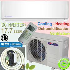 PIONEER 18000 BTU 18 SEER Inverter+ Ductless Mini Split Heat Pump System 33' Kit