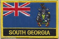 South Georgia & Sandwich Islands Flag Embroidered Patch Badge - Sew or Iron on