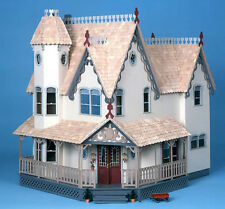 NEW The Pierce Dollhouse Kit Wood Doll House Victorian 6 Room 2 Fireplaces LOOK!