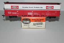 HO Scale Life Like 591 Canadian Forest Products 51' All Door Boxcar  4542