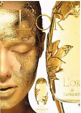 "Publicité Advertising 2001 Parfum ""L'Or"" de Torrente"