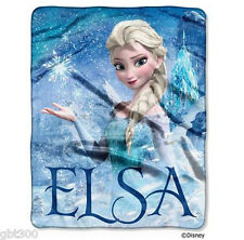 Disney Frozen ELSA Disney Silk Touch Throw 40x50 Silky Plush Kid Blanket