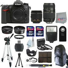 Nikon D7100 Digial SLR Camera 4 Lens Kit 18-55mm VR + 70-300 + All You Need Kit