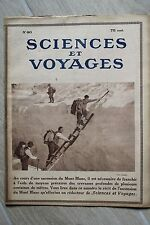 Sciences et Voyages - N°80  MARS 1921 - ASCENSION MONT BLANC - ANIMAUX MONTES