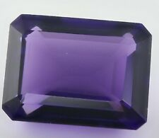 LARGE 16x12mm OCTAGON-FACET DEEP-PURPLE NATURAL AFRICAN AMETHYST GEM (APP £322)