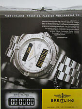 2/2006 PUB MONTRE BREITLING WATCHES CHRONOMETRE AEROSPACE AVIATION ORIGINAL AD