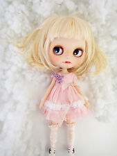 M-Style azone/licca/blythe size Doll Handmade flower dress pink