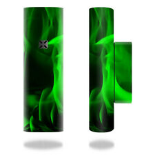 Skin Decal Wrap for Pax 2 by Ploom Vaporizer mod skins vape Green Flames