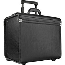 SOLO Classic Rolling Catalog Case, Black with dual Wheeled Business Case NEW
