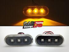 Black LED Side Marker Lights Turn Signals For VW Golf Jetta MK4 4 Passat B5 B5.5