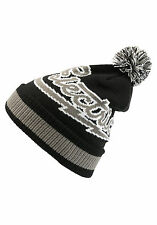 ELECTRIC Mascot Mens Beanie (NEW) Black Rolled Cuff POM BEENIE CAP Free Shipping