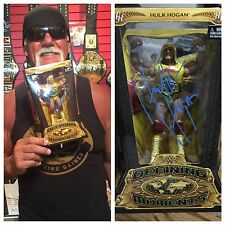 AUTOGRAPHED HULK HOGAN DEFiNING MOMENTS FIGURE