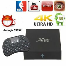 2GB/16GB Fully Loaded Android 6.0 Smart TV BOX 4K Player & Keybroad X96