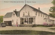Florence Cilleys Store and Post Office in Plymouth VT Postcard Gas Pump