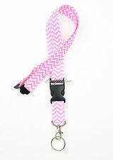 Breakaway Fabric LANYARD with Detachable Buckle Key Chain for ID Badge Holder