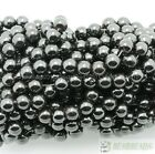 Natural Magnetic Hematite Gemstones Round Beads 4mm 6mm 8mm 10mm 12mm 16'' Pick