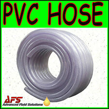PVC Flexible Braided Water Hose Fish Pond Plastic Pipe Hydrophonics Tubing RPVC
