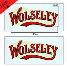 Stationary Engine Transfer - Wolseley Logo (x2 - a pair)