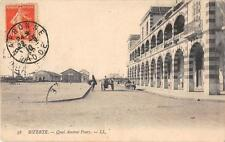 CPA TUNISIE BIZERTE QUAI AMIRAL PONTY