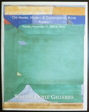 Auction Catalogue William Doyle NY Old Master, Modern Prints, Posters 11/11/97