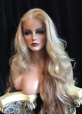 Stunning, HUMAN HAIR BLEND, Long Blend Of Blonde Shades  Wig!