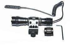 WindFire Tactical Flashlight Cree Xm-l Led 1 Mode Light + Pressure Switch Mount