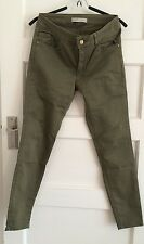 Zara Basic Denim Dept Women's Skinny Pants Moss Green W28 L29 VGC