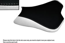 DESIGN 2 WHITE & BLACK CUSTOM FITS KAWASAKI ZX10R 1000 08-10 FRONT SEAT COVER