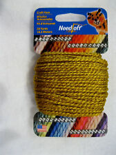 NEEDLOFT CRAFT YARN GOLD #17 for PLASTIC CANVAS by COTTAGE MILLS