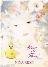 PUBLICITE ADVERTISING 085  1982  NINA RICCI parfum de toilette FLEUR DE FLEURS
