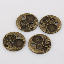 15pcs Antique Bronze Steam punk gear Pendants for Jewelry Making 25mm ABF151
