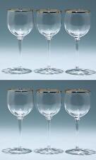 6 mundgeblasene Weingläser mit Goldrand - 17 cm        #92356z