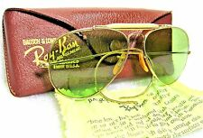RAY-BAN *NOS VINTAGE B&L RARE AVIATOR ODM RB-3 58mm 12kGF 1940s *MINT SUNGLASSES
