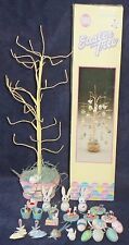 Miniature Easter Spring Wire Tree Wood Ornaments Bunny Rabbit Eggs Birds Decor