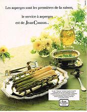 PUBLICITE  1982   JEAN COUZON  art de la table service à asperges
