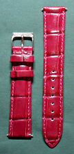 NEW 18MM TIMEX - Dark Red Genuine Leather Watch Band!