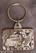 Pewter Key Ring vehicle Trucking Coast to Coast NEW
