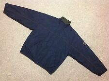 VINTAGE FRED PERRY SPORTSWEAR FLEECE LINED JACKET IN NAVY BLUE SIZE LARGE