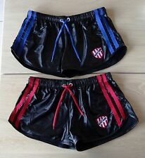 Set of 2 Barcode Berlin Byron shiny leather look shorts in size M NWOT