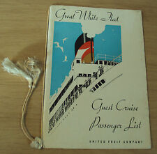 "1935 Guest Cruise PASSENGER List~""S.S. Sixaola""~SUNK WWII U-159~United Fruit Co~"