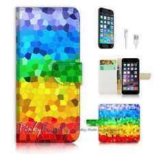 "iPhone 6 (4.7"") Print Flip Wallet Case Cover! Gay Pride Pattern P0422"