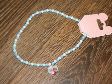 NEW Disney Parks Frozen Elsa & Anna Heart Pendant Pearl Necklace