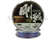 Gosen W8 Casting 8 Braid (Ply) 45lb/150m Braided Fishing Line (Multi-Colour)