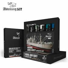 502 Abteilung Modeling Oil Paint Set- ABT-306 Naval Gray (6 Colors)