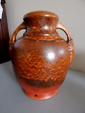 "Red Wing Pottery Lamp Base Orange and Bay 8 1/2"" Tall Matches Vase #375"