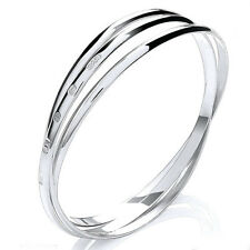 Solid Sterling Silver Russian Slave Bangle Bracelet Womens Quality UK 925 HM