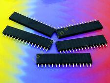 Stk. 5 x BUCHSENLEISTE / HEADER 16 polig 2.54mm Arduino bauweise / style #A475