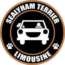 """LIMOUSINE SEALYHAM TERRIER 5"""" DOG TRANSPORT STICKER"""